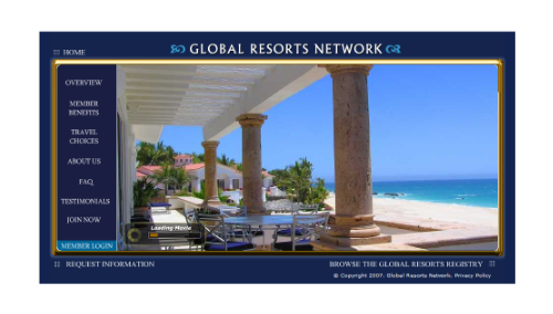 Global Resorts Network website picture